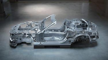 Mercedes SL aluminium chassis 2