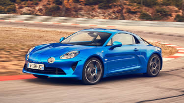 Alpine A110 - front track