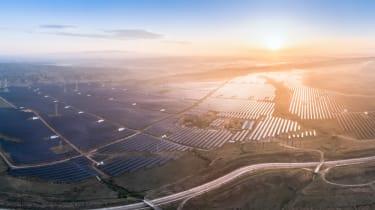 Chinese solar panel farm