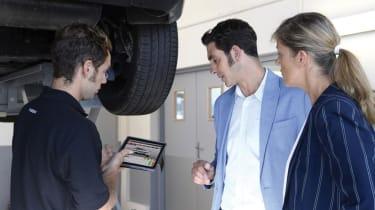 MoT test - under car