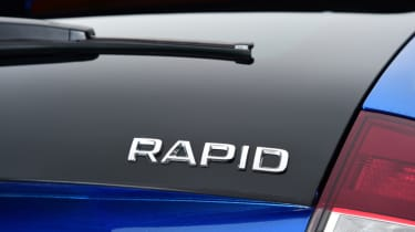 Skoda Rapid Spaceback - badge close up