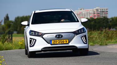 Hyundai Ioniq Electric - front cornering