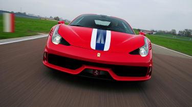 Ferrari 458 Speciale head on