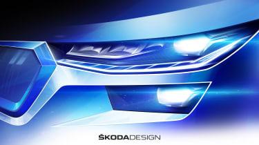Skoda Kodiaq facelift - front light teaser