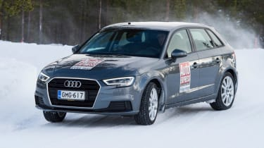 2017/18 winter tyre test - Audi corner
