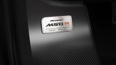 McLaren MSO R Coupe plaque