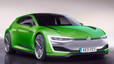 Volkswagen Scirocco EV - front (watermarked)