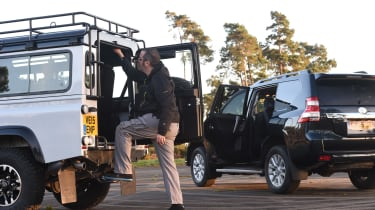 Land Rover Defender vs Toyota Land Cruiser - rear access head to head