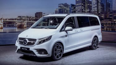Mercedes V-Class facelift - reveal front