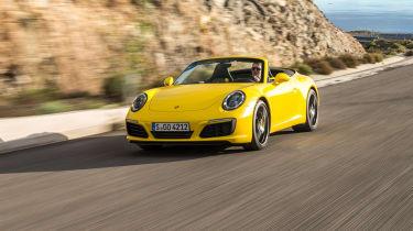 Porsche 911 Carrera S Cabriolet front tracking