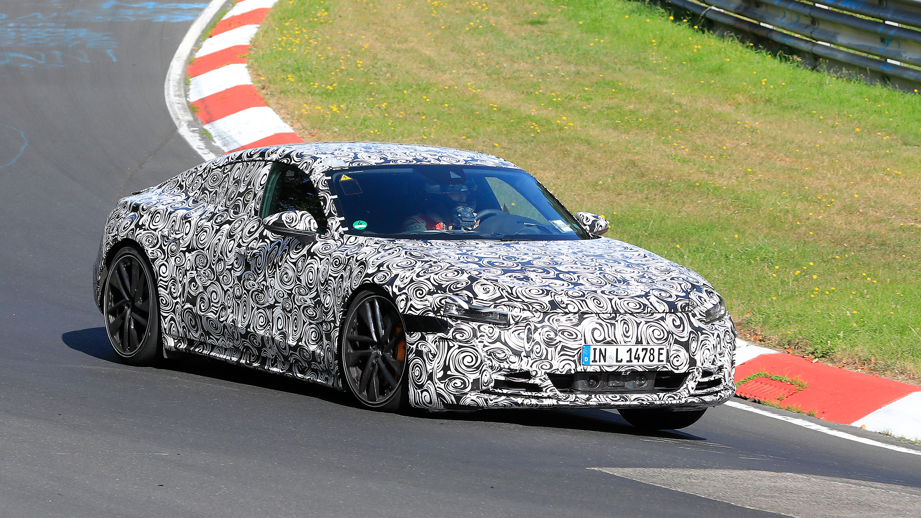 new electric 2021 audi etron gt spied at the nurburgring