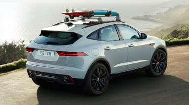 Jaguar E-Pace Chequered Flag Edition - white rear