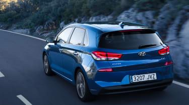 Hyundai i30 2017 - blue rear tracking