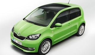 Skoda Citigo facelift 2017 - green front overhead
