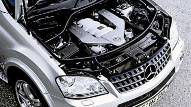 Mercedes ML63 AMG engine