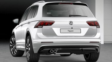 volkswagen tiguan r-line tech rear static