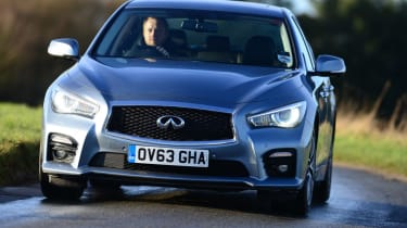 Infiniti have sourced a 2.1-litre diesel engine from Mercedes but it's quite a gruff unit.