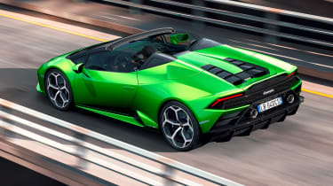 Lamborghini Huracan Evo Spyder - rear tracking