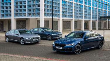 BMW 5 Series vs Audi A6 vs Volvo S90 - group