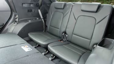 A third row of seats are available in the Santa Fe but access to these are difficult.