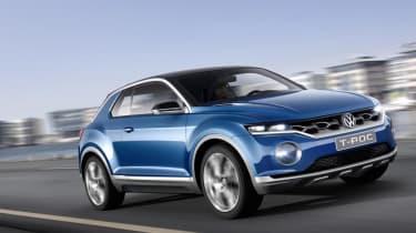 VW T-ROC concept 2014 driving