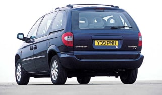 Rear view of Chrysler Voyager
