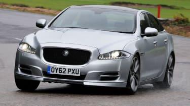 Jaguar XJ front cornering