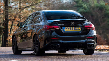 Mercedes-AMG A 35 Saloon - rear cornering
