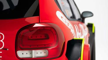 Citroen C3 WRC 2017 white background rear lights
