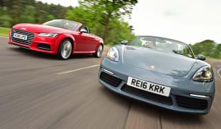 Porsche 718 Boxster vs Audi TTS Roadster - header
