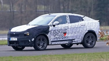 Lynk & Co Coupe-SUV spied  - front 3/4 tracking