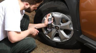 Wheel wax and sealants