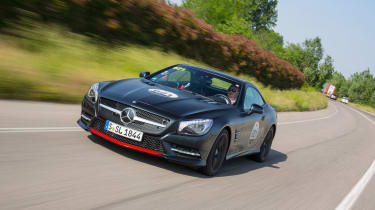 Mercedes SL Mille Miglia 417  -front tracking
