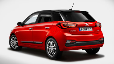 Hyundai i20 facelift - rear
