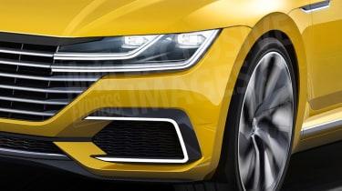 VW Passat CC watermarked render front detail