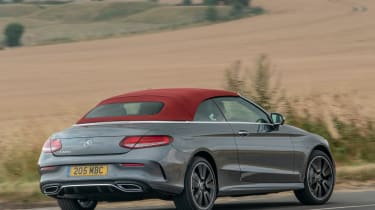 Mercedes C-Class Cabriolet - roof up