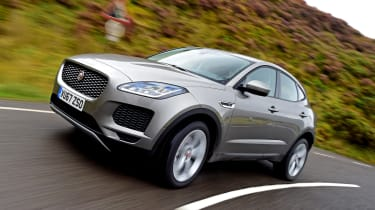 Jaguar E-Pace prototype - front action