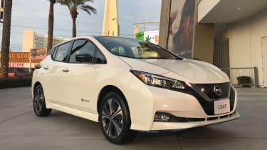 Nissan Leaf e+ front quarter