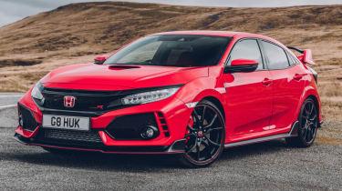 UK Honda Civic Type R 2017 - red front quarter