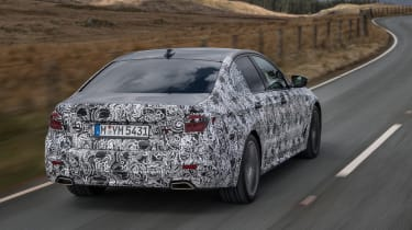 BMW 5 Series prototype 2016 - rear tracking