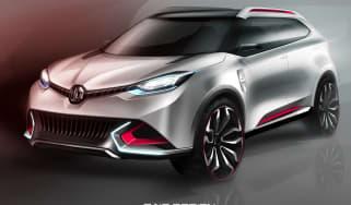 MG CS concept SUV sketch front