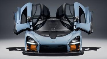 McLaren Senna - grey front doors open