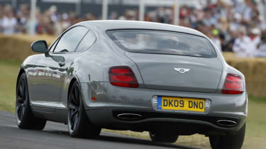Bentley Continental Supersports coupe rear tracking