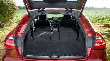 Mercedes GLC 250d Coupe - boot seats down