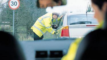 Policeman and motorist