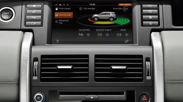 Land Rover Discovery Sport display screen