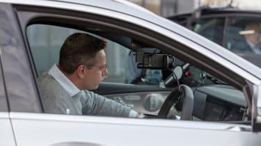 Britain's driverless car network - Hugo in car