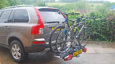 US Cycle Universal Carrier 60kg 3 Bike Foldable Rack Car Saloon Hatchback Strap