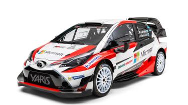 New Toyota Yaris WRC rally car