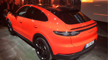 Porsche Cayenne Coupe reveal event rear